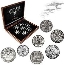 Monedas ANTIGUAS - 7 monedas en plata, Colección Segunda Guerra Mundial 1939-1945