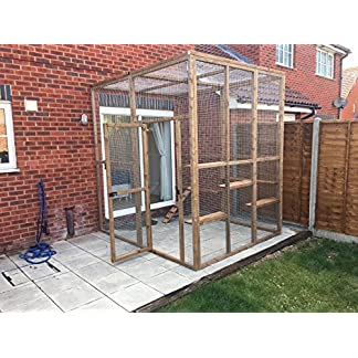 4wire Catio/House Cat Leanto 8ft x 8ft x 8ft with ladders shelves etc 61o2VDGNMAL
