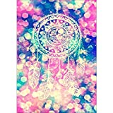 DIY 5D Diamond Painting by Number Kits, Full Drill Crystal Rhinestone Embroidery Pictures Arts Craft for Home Wall Decor Gift,Aperture Dream Catcher