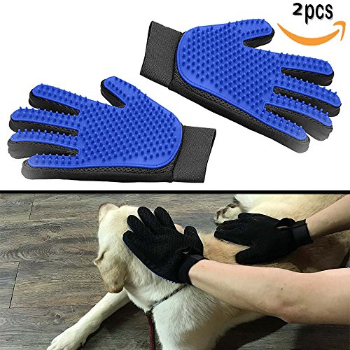 wholesale dealer dd4ec 7b226 YTH 2 Pack Pet Dog Cat Grooming Glove,  Versione di aggiornamento  OMOR Pet