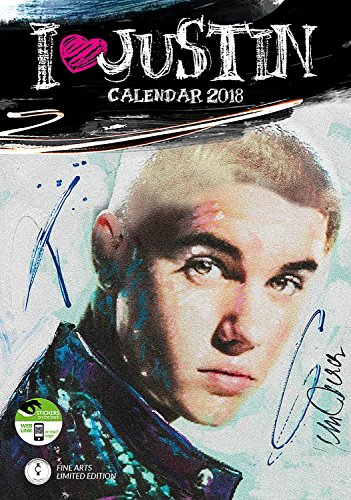 Imagicom imacal211Justin Bieber Wall Calendar, Paper, White, 0.1X 30.5X 42.5Cm