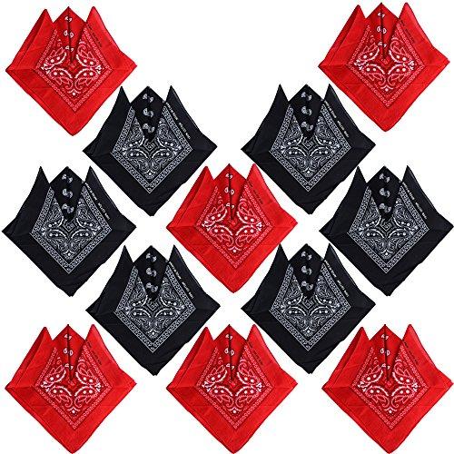 12 pz Bandane ai Capelli al Collo Testa Modelli di Paisley Sciarpa Fazzoletti da Taschino