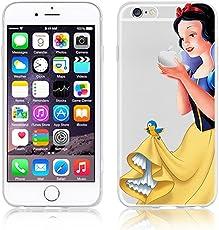 Disney PRINCESS transparente in poliuretano per iPhone-Cover ; Minions ; Winnie ; cartoon, in poliuretano termoplastico per iPhone-Cover per iPhone 5,5S,5C,6/6S,6PLUS,7 plastica, (6/6s Snowwhite)