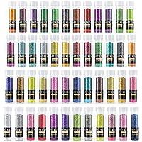 Set de 48 botes de purpurina en polvo Arteza - Purpurina de colores que brillan con luz ultravioleta, para usar en cuerpo, cara y manualidades