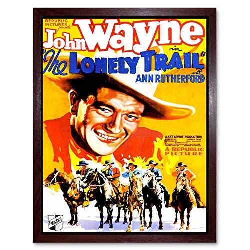 ie Film Lonely Train Western Drama John Wayne Duke USA Art Print Framed Poster Wall Decor Kunstdruck Poster Wand-Dekor-12X16 Zoll ()