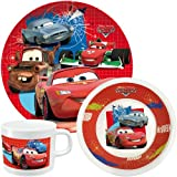 p:os 68791 Breakfast Set 3 Pieces Including Plate / Bowl / Cup with Disney Cars Design