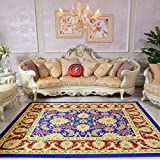 Traditioneller Vintage Persian Floral Oriental Area Rug, Easy Clean Stain Fade resistent Classic Thick Soft Living Dining Room Teppich,#B,180×260cm(6'x8.5')