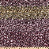 Fabric Mart 0649315 Ditsy Floral Stripe Chiffon
