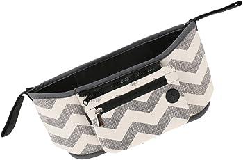 Phenovo Travel Baby Storage Bag Diaper Stroller Organizer Bottle Basket Stripe