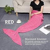 CAMTOA Mermaid Tail Coperta / Aria condizionata Coperta - Knitting Pattern - Sacco a pelo a maglia Artigianato - Tutte stagioni sacco a pelo Coperta - Adulti Stile