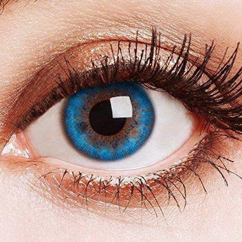 Farbige Kontaktlinsen Blau Ohne Stärke Weiche Natürliche Jahreslinsen Blaue Linsen Farblinsen 0 Dioptrien Natürlich Aqua Blue Water 3 tones
