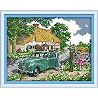 CaptainCrafts Hot New Releases Cross Stitch Kits Patterns Embroidery Kit - Countryside Fishing (Stamped)