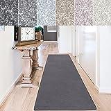 casa pura Teppich Läufer Sundae | Meterware | Teppichläufer für Wohnzimmer, Flur, Küche usw. | kuschlig weich | mit Stufenmatten kombinierbar (Anthrazit - 66x400 cm)