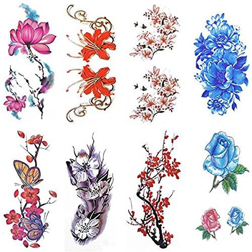 rosenice-tatouages-temporaires-8-feuilles-aquarelle-motif-tatouage-autocollant-fleur-longue-duree-au