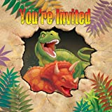 Kinderparty Einladung Dinosaurier-Alarm, 8 Stk.