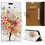 Wiko Sunny 2 Housse - KingSang Coque Etui Wallet Case Cover avec Pochette Stand pour Wiko Sunny 2 Tablette PU Cuir Housse +1x Stylet