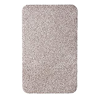 andiamo 700608 Schmutzfangmatte Samson / Waschbare Eingangsmatte aus Baumwolle in Hellbeige für den Innenbereich / 1 x Türmatte (50 x 80 cm)