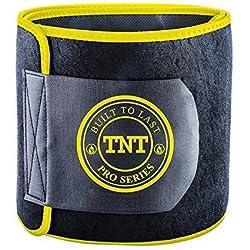 TNT Pro Series Bauchweggürtel, Hilfe Zum Abnehmen Am Bauch - Premium Bauchgürtel, Bauchtrainer, Hot Belt Als Fettverbrenner Für Bauch - Extra Breit Und 100% Latex-Frei – Größe M