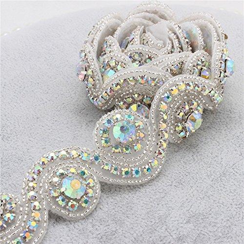 Braut Rhinestone Applique mit Kristallen in Rose Gold Base für Hochzeit Gürtel Stirnbänder...