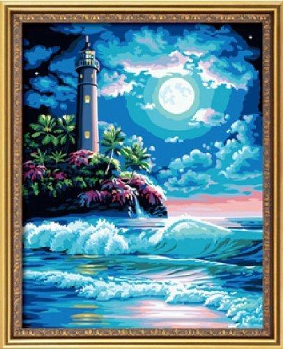 Bricolage numérique toile peinture à l'huile de décoration en nombre Kits Le Blue Dream 16 * 20 cm.