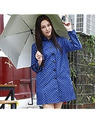 Imperméable à l'imperméable féminin Poncho long de la mode pour adultes (rose, noir, bleu)