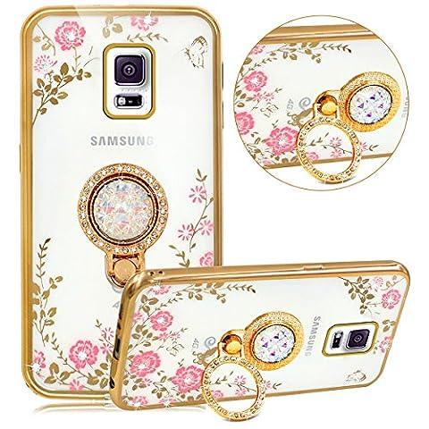 Samsung Galaxy S5 Coque Or,Samsung Galaxy S5 Etui Bling en