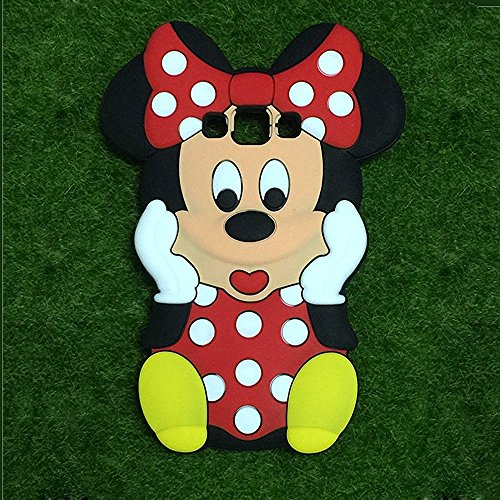 Go Crazzy Samaung Galaxy A5 Minnie Mouse Silicone Case, 3D Cartoon Hide and Seek Minnie Mouse Silicon Gel Rubber Case Cover Skin for Samsung Galaxy A5
