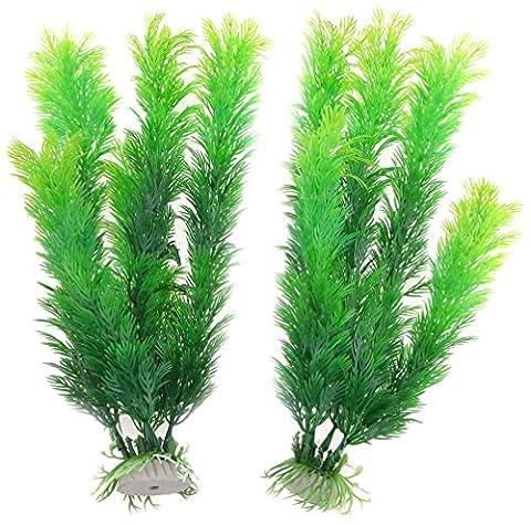 Sourcingmap Aquarium Fish Tank Künstliche Wasser Pflanzen Ornament Grün, 1Paar (Pflanzen Aquarium Ornament Dekoration)