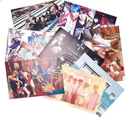 Kingmia Kpop Photocards BTS Postkarte BTS Krop Rap Monster,Jung Kook Jimin, V, Suga Jin J Hope Poster Mini Fotokarten Set Geschenk für die Army 16 Stück Zufällig Gesendet(H17) (Kpop Sammlung)