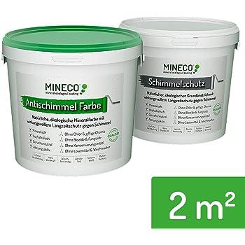 Mineco Anti Schimmel Farbe 2 M² Weiß Natürliche ökologische