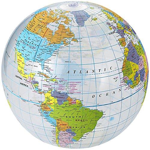 Bellissima palla pallone da mare spiaggia gonfiabile con mappamondo mondo globo da 25 28 cm