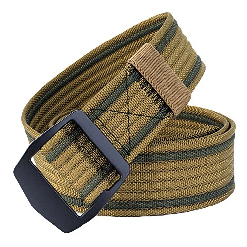 ALAIX Heavy-Duty Durable Big and Tall Tactical Nylon Tactical Belt 1.5'S wide Brown