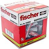 Fischer DUOPOWER 10 x 50, universele pluggen, krachtige 2-componenten pluggen, kunststof pluggen voor bevestiging in beton, b