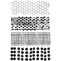 Stampers Anonymous Tim Holtz Cling Rubber Stamp Set, 7 by 8.5-Inch, Mixed Media