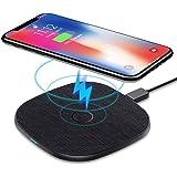 AGPTEK Caricatore Wireless 10W/5W per Samsung S20/11/10/9/9+/9+/8/7Edge/S6/Note8/9/10/10+ Huawei Mate 20 Pro/P30 PRO/Mate 30/