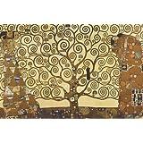 """Póster de Gustav Klimt """"Tree of Life/El árbol de la vida"""" (91,5cm x 61cm) + 2 marcos negros para póster con suspención"""