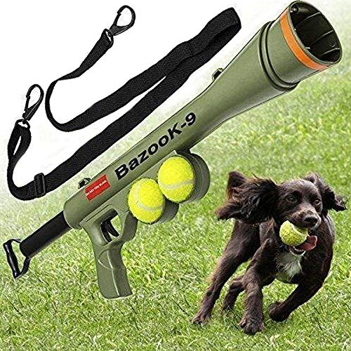 Happy-L Heimtierbedarf, Training Dog Launcher Schusswaffe Ferngeschwindigkeit Ziel Tennis Launcher Pet Supplies Spielzeug, Größe: 52 * 19 * 9 cm - Ziel Kleid