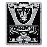 Oakland Raiders Fleece Blanket Throw, Marquee Design