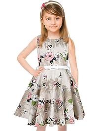 ff781974571cce HBBMagic Maedchen Audrey 1950er Vintage Baumwolle Kleid Hepburn Stil Kleid  Blumen Kleid Tupfen Kleid