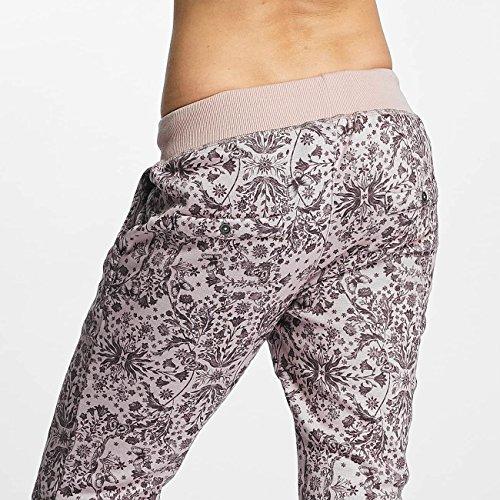 Sublevel Donna Pantaloni / Pantalone ginnico Allover Printed Rosa chiaro