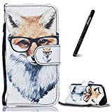 Slynmax Coque iPhone 5C,iPhone 5C de Protection, Motif de Fox Luxe Peinture Etui...