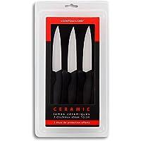 Le Couteau du Chef, Tarrerias Bonjean 441780 Set de 3 Couteaux à Steak Lames céramiques 10 cm manche ergonomique Soft…