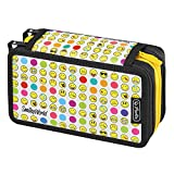 Herlitz Triple Etui 31 teilig Federmäppchen, 19 cm, Smiley World Rainbow Faces