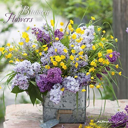Blumen 2020 - Flowers - Wandkalender - Broschürenkalender (30 x 60 geöffnet) - Wandplaner -
