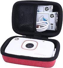Borsa Custodia Rigida per HP Sprocket 2 in 1 Fotocamera + Stampante Fotografica Istantanea per foto formato 2x3 Zink Autoadesiva di Aenllosi
