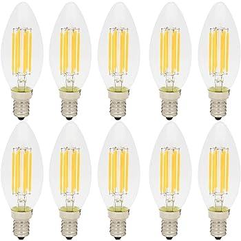 10X E14 Bombilla de Filamento 6W Bombilla Edison C35 Vintage LED Blanco Cálido 2700K Super Brillante 500LM Bombilla Retro AC 220V