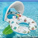 Lvbeis Baby Schwimmen Float Pool Spielzeug mit Mama Schwimmring - Abnehmbare Baldachin,White