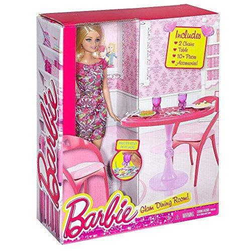 Barbie - Mobili Arredamento Cucina - Tavolo da Pranzo con la Bambola