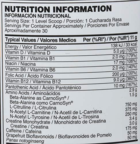 5353598cb2e661 Optimum Nutrition Gold Standard Pre-Workout Pre-Entreno, Sandía - 330 g