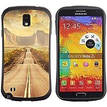 Paccase / Suave TPU GEL Caso Carcasa de Protección Funda para - Road scenery - Samsung Note 3 N9000 N9002 N9005
